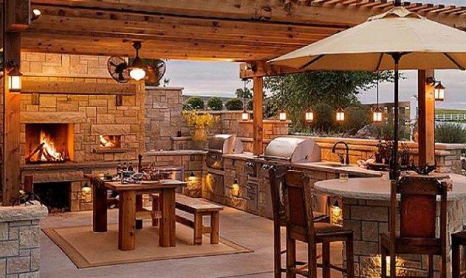 Cool Stone Outdoor Kitchen Design Plans Modular