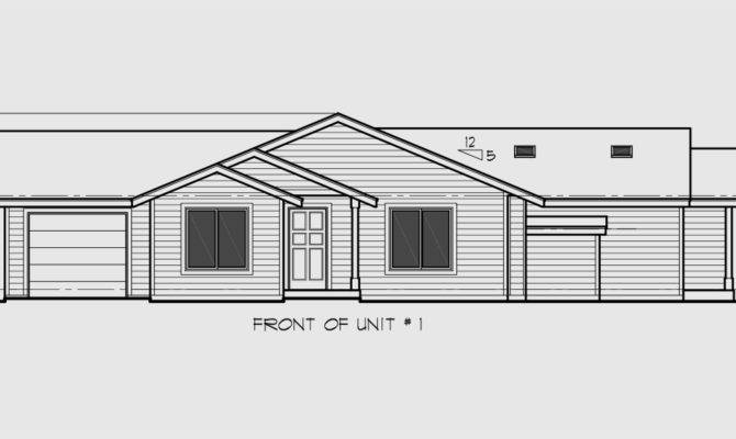 Corner Lot Duplex Home Plans