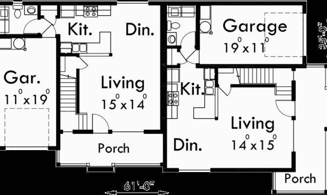 Corner Lot Duplex House Plans Bedroom