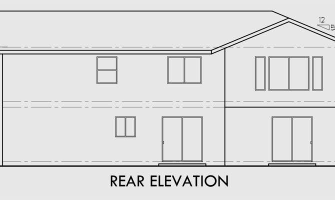 Corner Lot Duplex House Plans Two Story