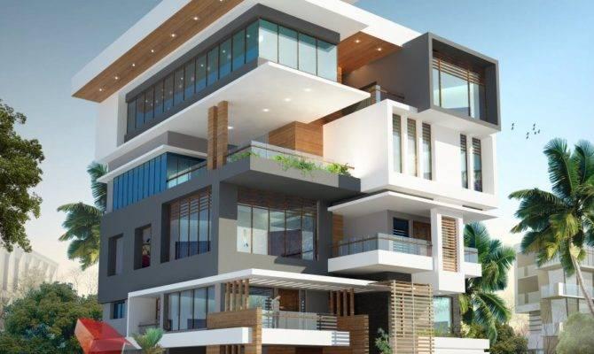 Corporate Building Design Rendering