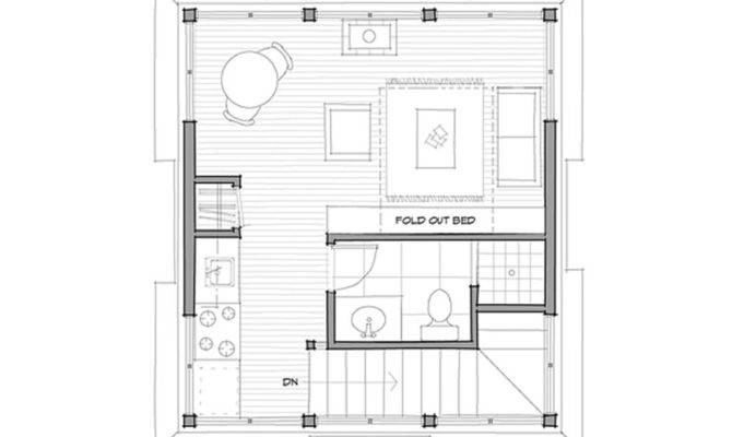 Cottage Beds Baths Plan Upper Floor