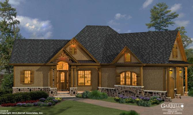 Cottage House Plan Front Elevation Craftsman Plans