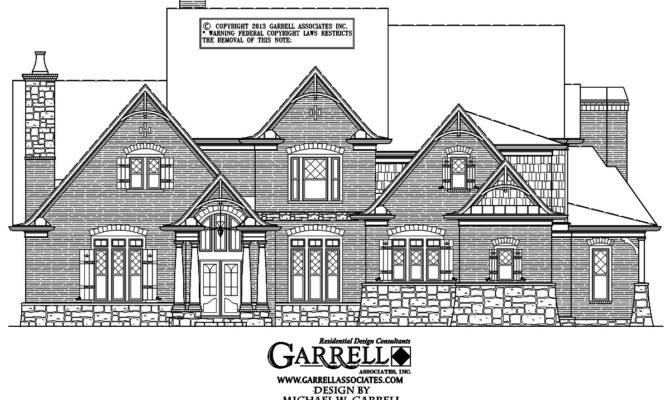 Cottage House Plan Front Elevation Mountain Style Plans