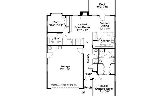 Cottage House Plan Riverton Floor