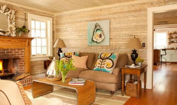 Cottage Living Room Create Peaceful Calm Feel