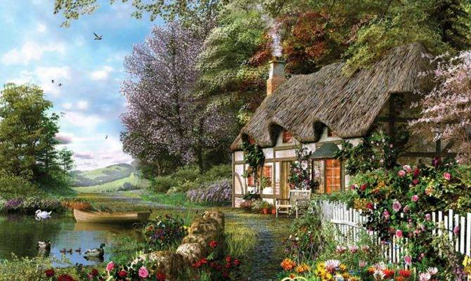 Country Cottage Ravensburger Pieces