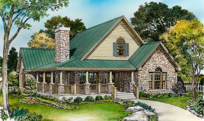 Country French House Plan Front Home Plans
