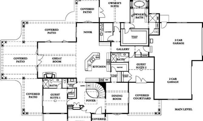 Country Style Floor Plans Over House