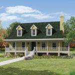 Country Style House Large Covered Front Porch