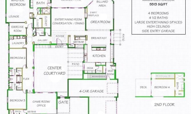 Courtyard House Plan Contemporary