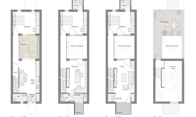 Courtyard Row House Marc Medland Architect