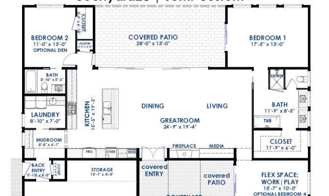 Courtyard Semi Custom Home Plan