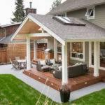 Covered Back Porch Backyard Patio Plans Design Idea