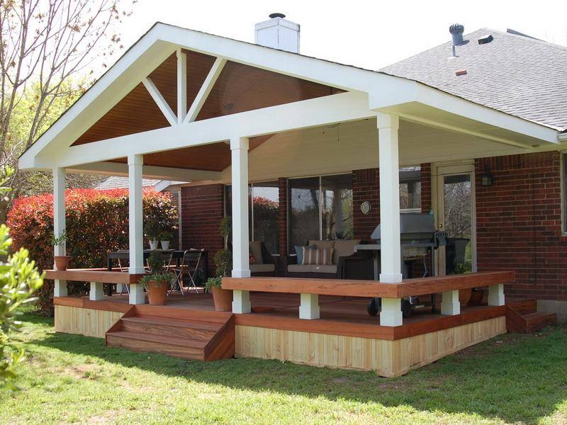 Covered Deck Plans Cost Building