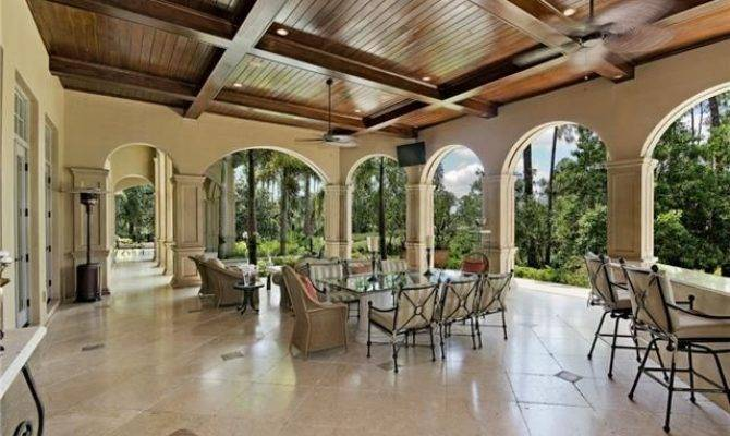 Covered Lanai Outdoor Living Wood Ceiling Verona
