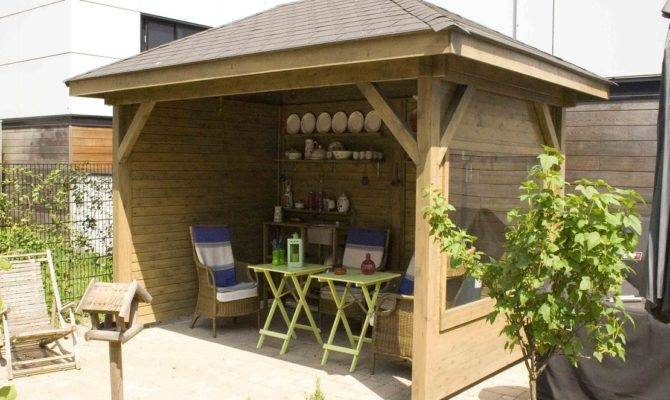 Covered Outdoor Bbq Area Designs