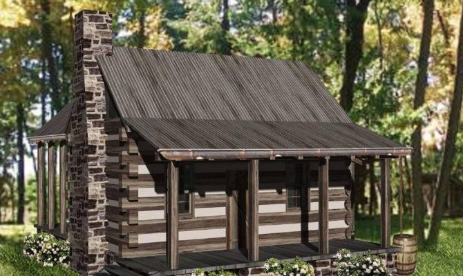 Cozy Getaway Log Cabin Architectural Designs