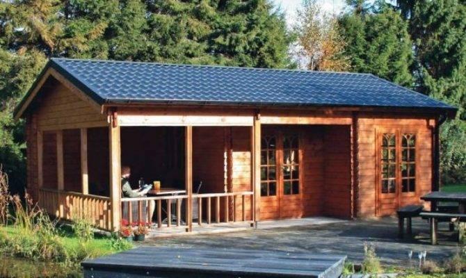 Cozy Log Cabin Home Design Garden