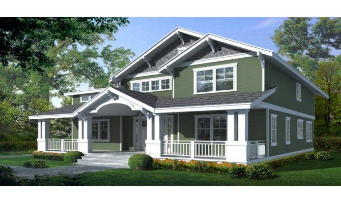 Craftsman Bungalow House Two Story Plan