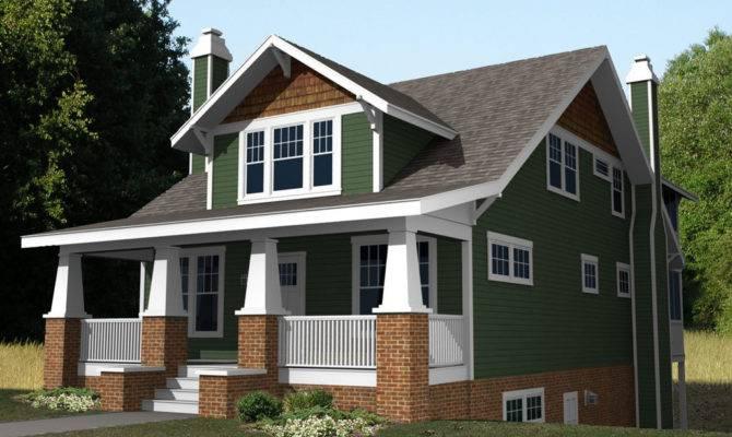 Craftsman Bungalow Plans Houseplans Front Elevation