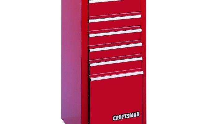 Craftsman Drawer Quiet Glide Side Chest Red