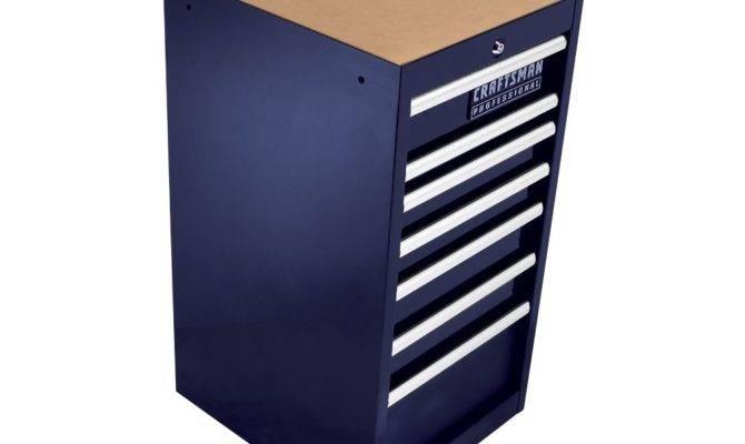 Craftsman Drawer Side Cabinet Midnight Blue