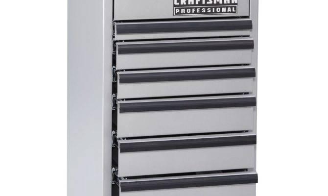 Craftsman Drawer Side Cabinet Silver