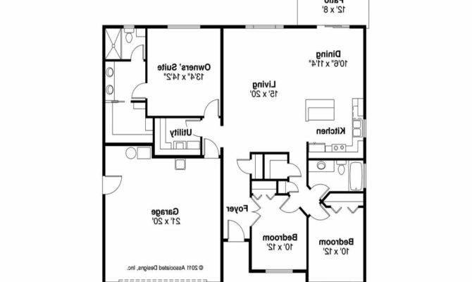 Craftsman House Floor Plans Open