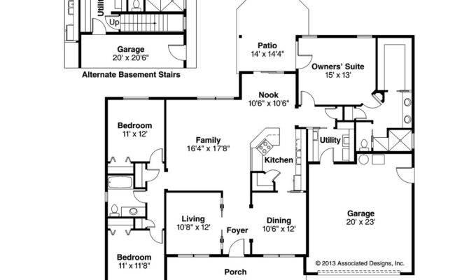Craftsman House Plan Adrian Floor