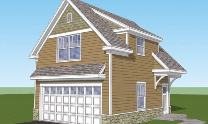 Craftsman House Plan Car Garage Studio Apartment