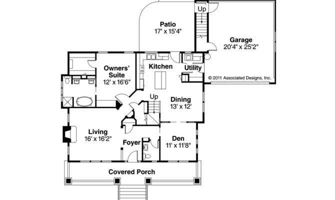 Craftsman House Plan Carrington Floor
