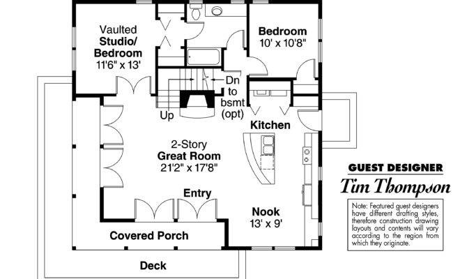 Craftsman House Plan Cedar First Floor