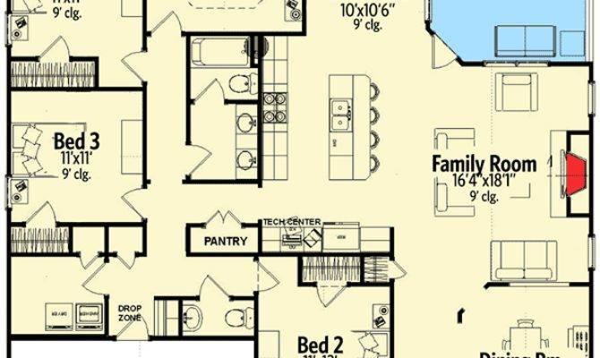 Craftsman House Plan Open Layout