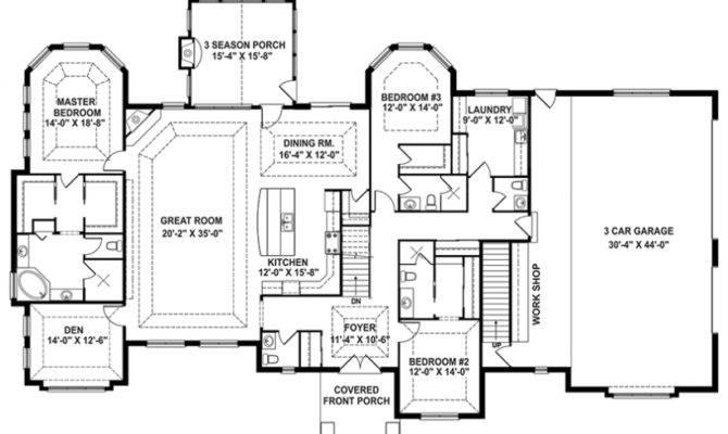Craftsman House Plan Story Retreat Open Floor