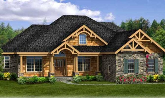 Craftsman House Plan Walk Out Basement