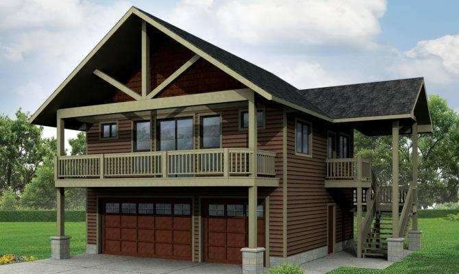 Craftsman House Plans Garage Apartment Associated Designs