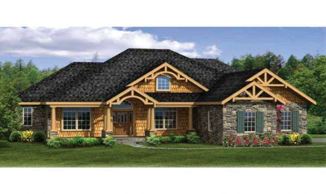 Craftsman House Plans Walkout Basement Modern