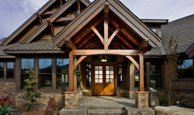Craftsman Inspired Home Has Luxury Details Like Timber Framed