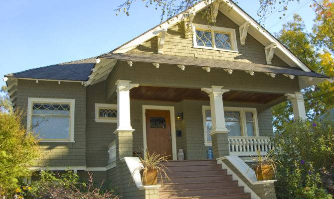 Craftsman Style Bungalow Old House Pinterest