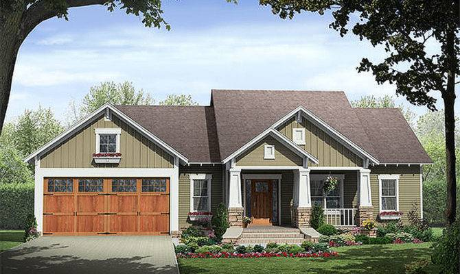 Craftsman Style House Plan Beds Baths Exterior