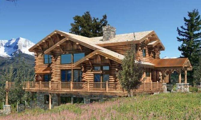 Craftsman Style Log Home Plans Design