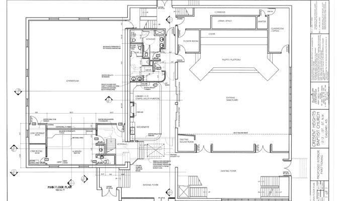Crescent Heights Main Floor Plan Drawings