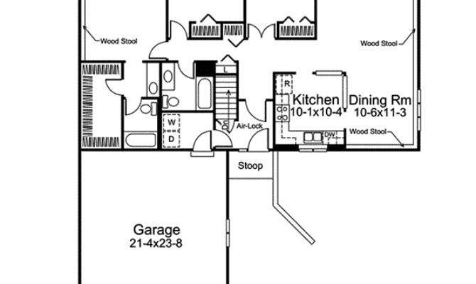 Crestbrook Berm Ranch Home Plan House Plans
