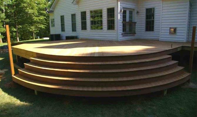 Curved Stairs Deck Decks Pinterest