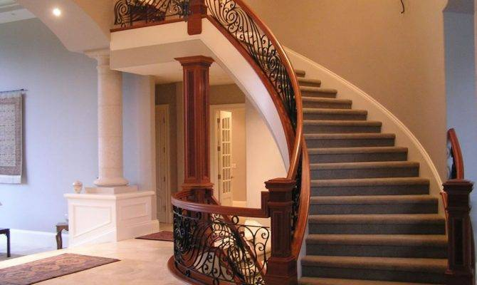 Curved Stairs Encourage Chi Meander Slowly Down Levels