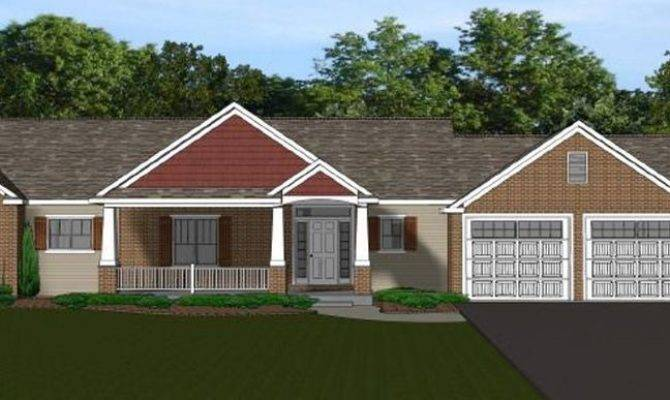 Custom Home House Plan Ranch Basement Blueprint
