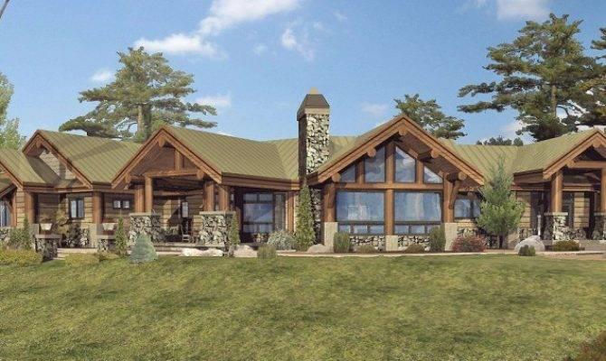 Custom Log Home Timber Frame