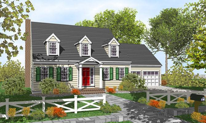 Customizable Cape Cod Classic Architectural