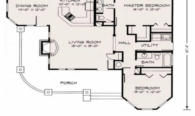 Cute Cottage Floor Plan Plans Loft
